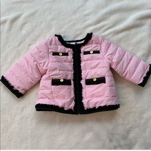NEW Little Me pink size 12M baby girl winter coat